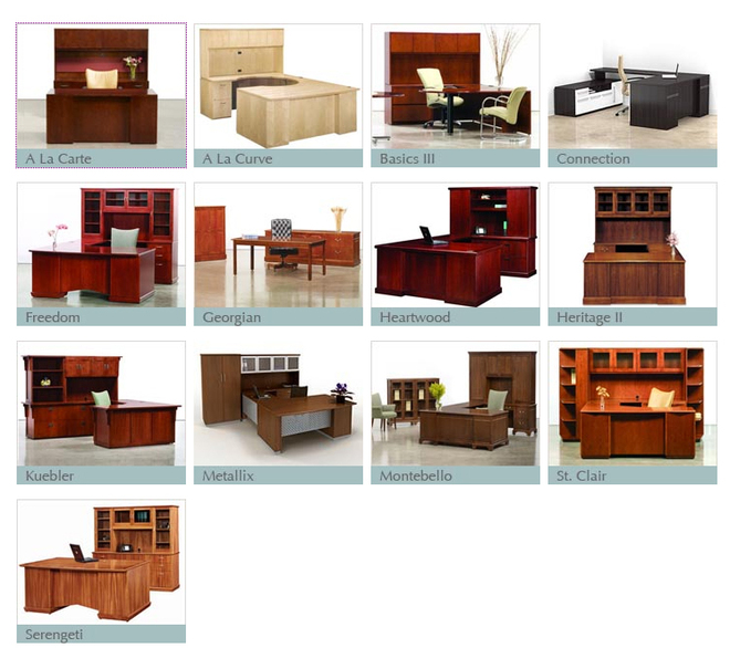 Types Of Desks Prepossessing Office Desks  Office Furniture Resources Decorating Design