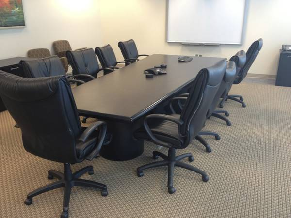 12ft Custom Conference Table With Power Atlanta